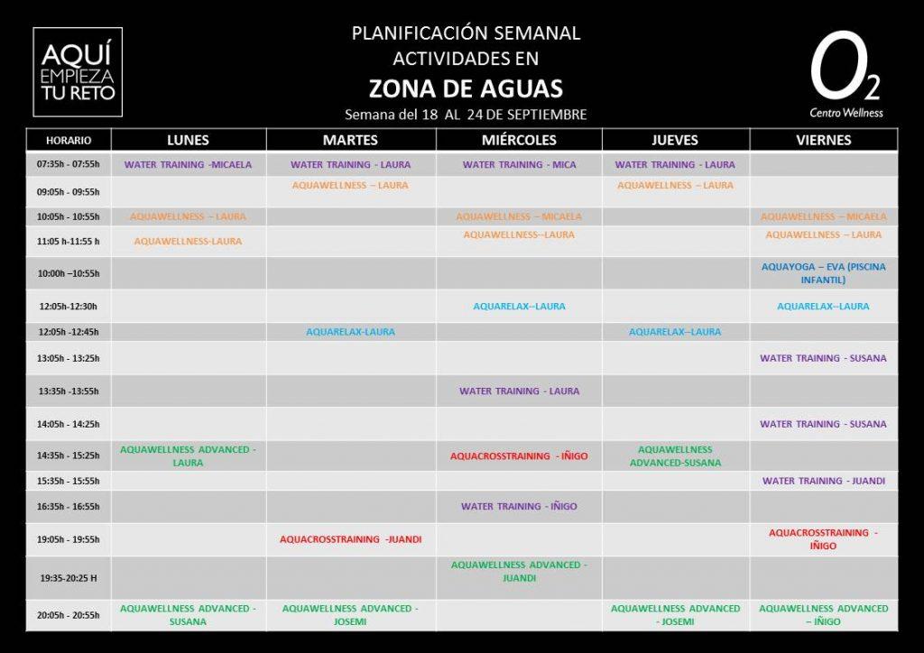 Horarios clases dirigidas y dinamizaciones o2 centro for Horario gimnasio