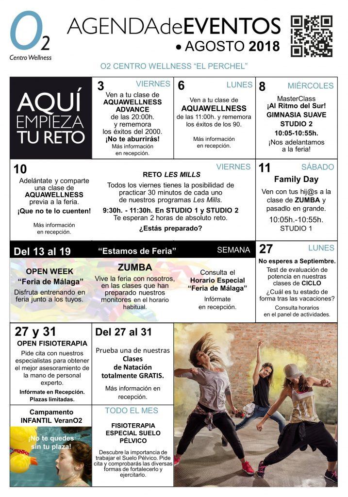AGENDA DE EVENTOS EL Perchel Agosto 2018